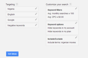 Google Keyword Planner 3